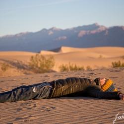 Jochen in den Mesquite Dunes
